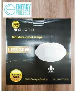 Светильник LED НПП 30W круг белый PLATO