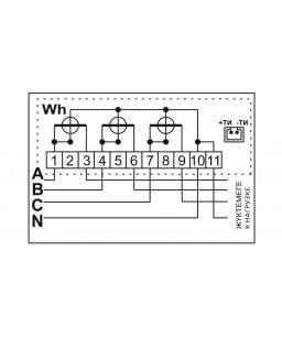 Счетчик электронный 3фаз. однотарифный ДАЛА СА4-Э720 ТХ П 3x220/380V 10(100)A
