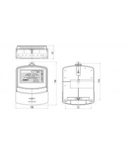 Счетчик электронный 3фаз. однотарифный ДАЛА СА4-Э720 3x220/380V 5(60)A