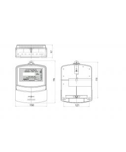 Счетчик электронный 3фаз. однотарифный ДАЛА СА4-Э720 Т1 3x220/380V 5(60)A