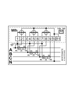 Счетчик электронный 3фаз. однотарифный ДАЛА СА4У-Э720 ТХ П 3x220/380V 5(7,5)A