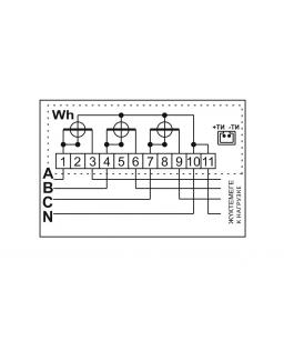 Счетчик электронный 3фаз. однотарифный ДАЛА СА4-Э720 ТХ П 3x220/380V 5(60)A