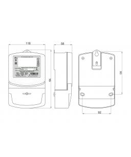 Счетчик электронный  1фаз. многотарифный с функцией PLC ОРМАН СО-Э711 ТХ P PLC IP П RS 220V 10(60)A