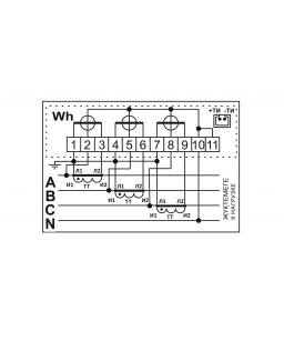 Счетчик электронный 3фаз. однотарифный ДАЛА СА4У-Э720 3x220/380V 5(7,5)A